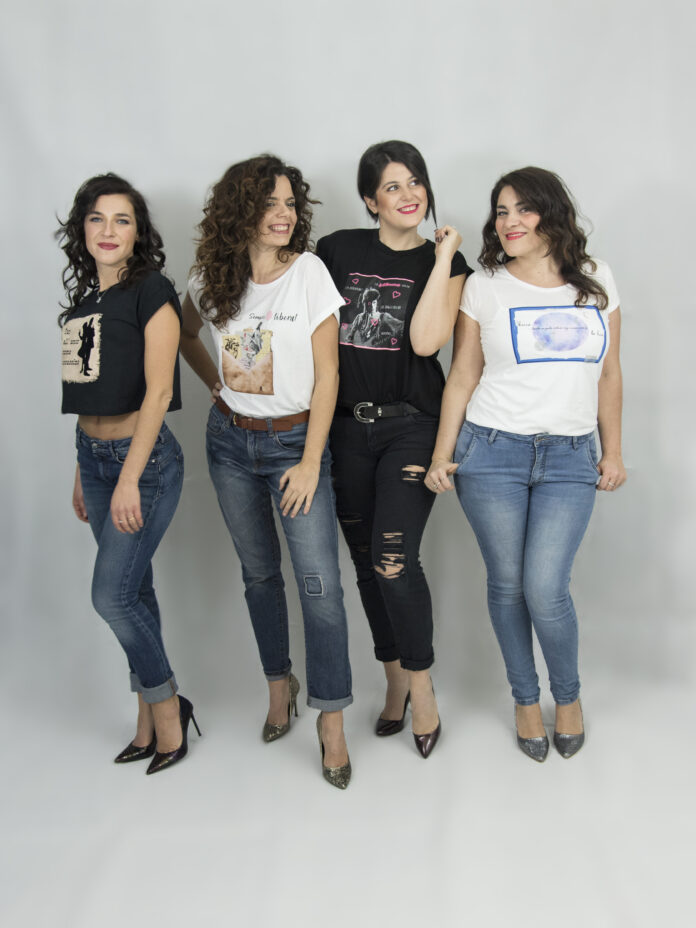Ginger'o: Da sinistra Giuseppina Bridelli, Stefania Panighini, Anna Maria Sarra, Anna Corvino Jeans