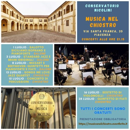 Conservatorio Nicolini - Programma