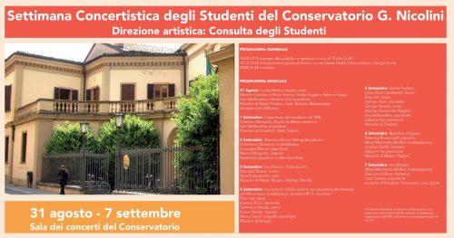 Gli studenti del Conservatorio Nicolini si presentano alla città | 1 settimana di concerti in Via Santa Franca